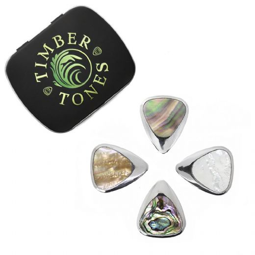 Inlay Tones Mixed Tin of 4 Guitar Picks